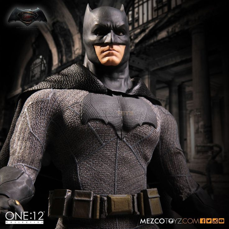 DC Ben Affleck Batman V Superman Action Figure Mezco The One:12 Collective NOW!