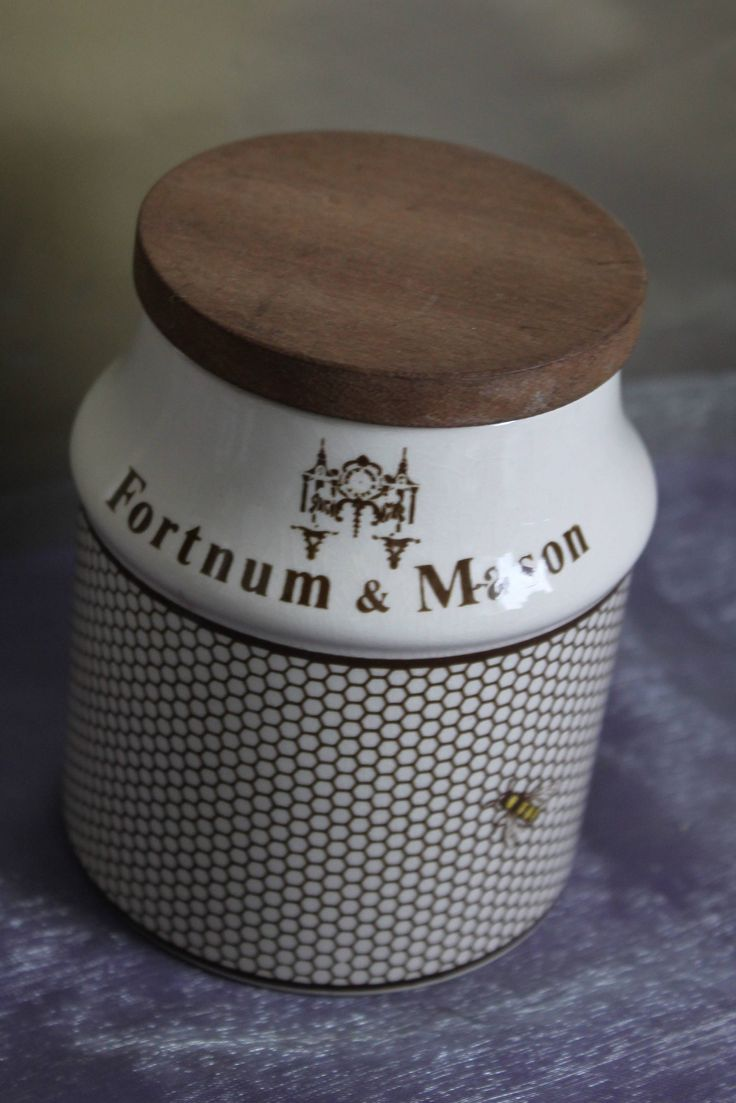 Fortnum & Mason Worker Bee Design Lidded Pot Collectable Vintage. c1950s by Crown Devon Pottery of England. by AtticBazaar on Etsy