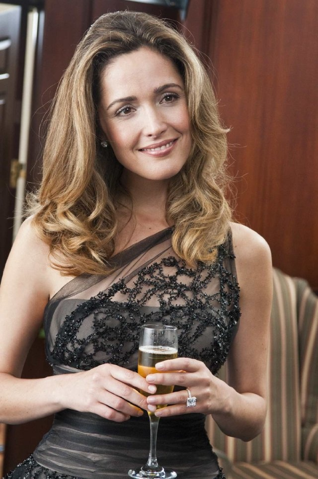 Rose Byrne in a pretty black squid dress...