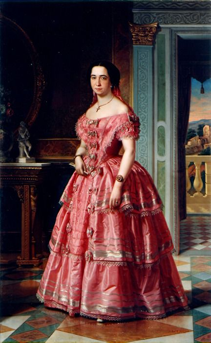 """Portrait of a Lady"", 1855, by Ángel María Cortellini Hernández (Spanish, 1819-1887). Museo Bilbao."