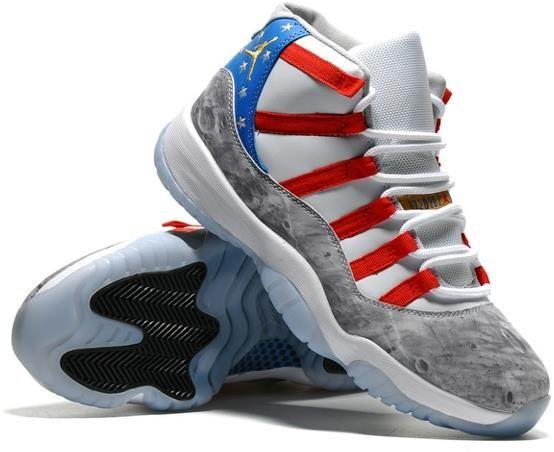 Nike Air Jordan XI 11 Retro Men Shoes USA Moon Landing Star Spangled Banner3