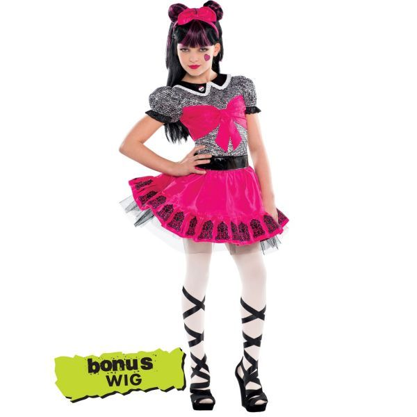 I might do this! Girls Monster High Draculaura Costume