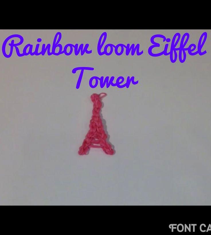 Eiffel Tower: Rainbow loom: How to make/tutorial by Cute Crafty Creations