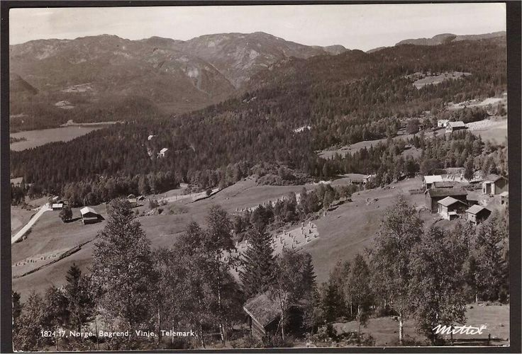 Bøgrend Vinje i Telemark Utg Mittet. Stemplet 1947.