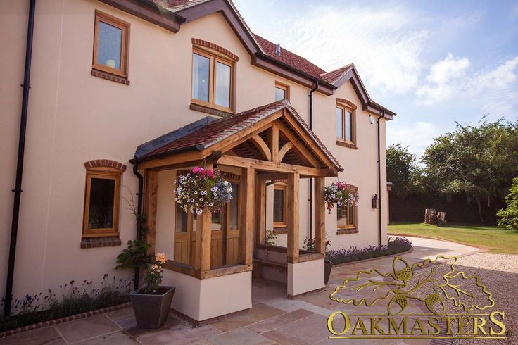 Create the home of your dreams with a bespoke oak porch.
