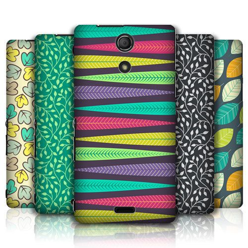 HEAD CASE DESIGNS LEAF PATTERNS 2 HARD BACK CASE COVER FOR SONY XPERIA ZR #HeadCaseDesigns