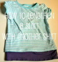 How to Lengthen a Shirt with Another Shirt