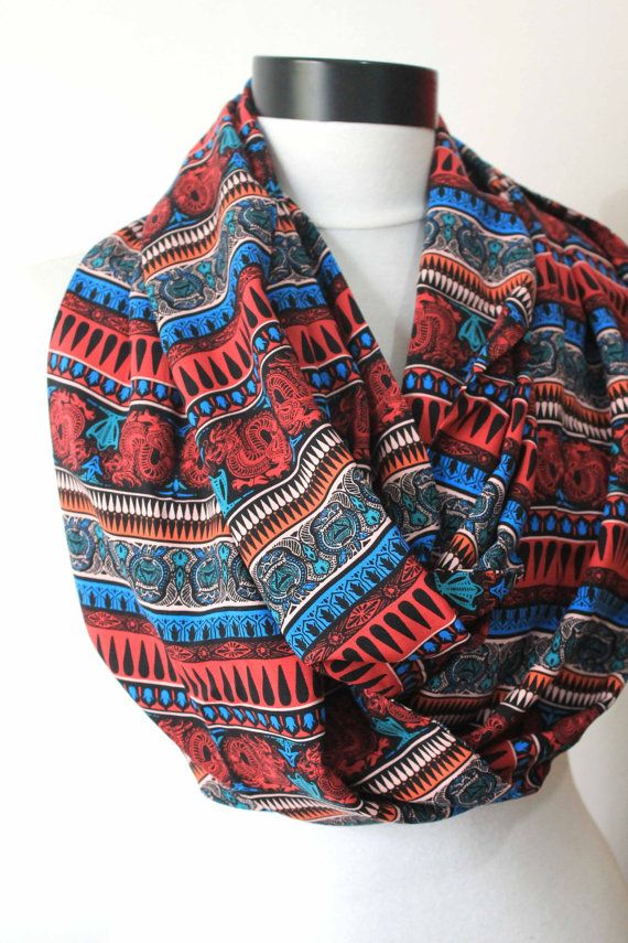 ethnic scarfprint scarflong by starshopboutique on Etsy