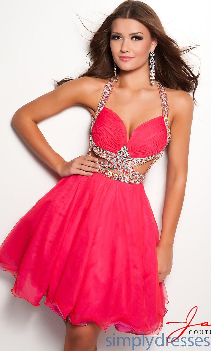 Hot Pink Short Sparkly Prom Dresses – fashion dresses