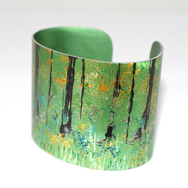 Abstract woodland cuff £29.95