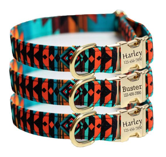 Hey, I found this really awesome Etsy listing at https://www.etsy.com/listing/197374912/personalized-aztec-dog-collar-tribal