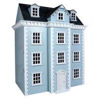 Sue Ryder Shop | Rakuten.co.uk Shopping:  Dolls House - Blue 4 Storey Georgian Style   Dolls House - Blue 4 Storey Georgian Style: 4522 from Sue Ryder Shop | Rakuten.co.uk Shopping