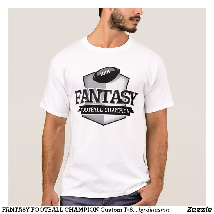 FANTASY FOOTBALL CHAMPION Custom T-Shirt Name + #