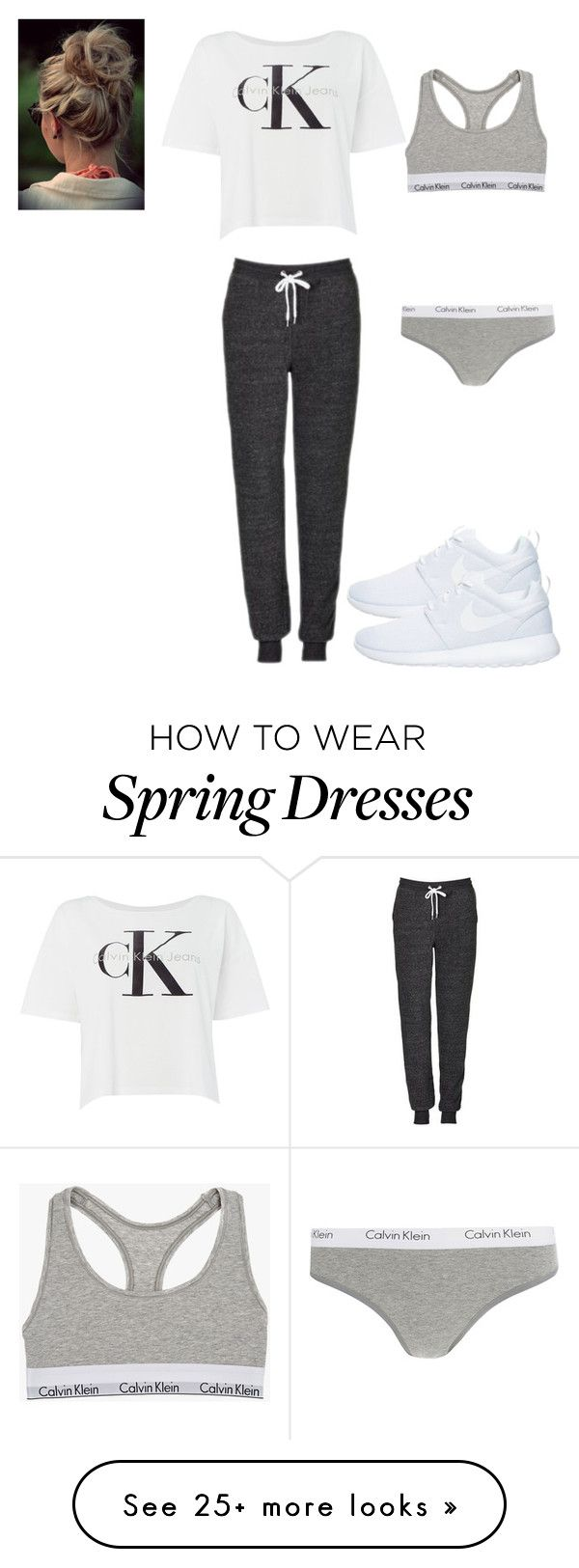 """#MyCalvins"" by meredith-gomes on Polyvore featuring Calvin Klein, Topshop, NIKE, lounge and mycalvins"
