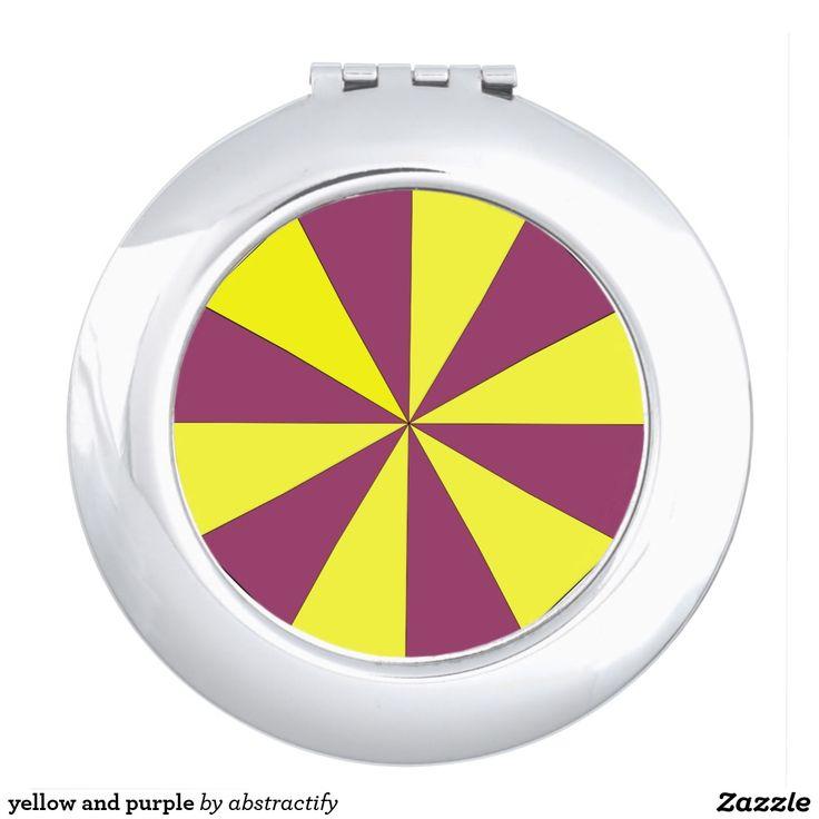 yellow and purple vanity mirror
