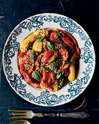 Mimi Thorisson tops sweet roasted peppers with her deliciously garlicky and salty homemade breadcrumbs.  Slideshow: More Roasted Vegetable Recipes