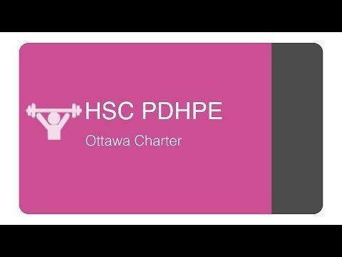 HSC PDHPE - Core 1 Ottawa charter