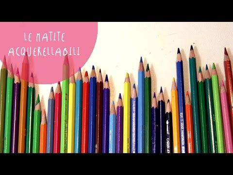 ART Supplies FOCUS ON: WATERCOLOR PENCILS - tips and tricks by ART Tv - YouTube