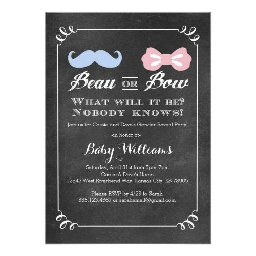 17 best images about gender reveal party invitations on pinterest, Baby shower invitations