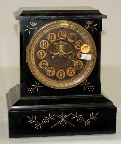 Antique Black Mantle Clock---Ansonia