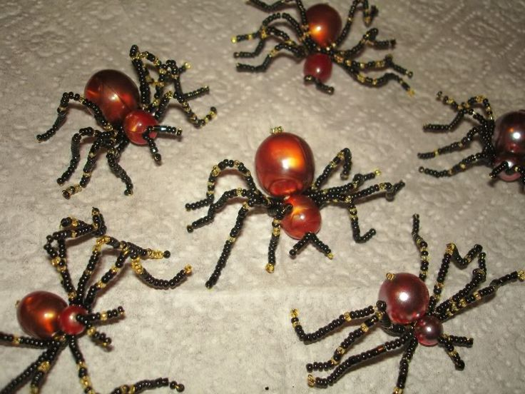 Beaded Spiders - Photo Tutorial