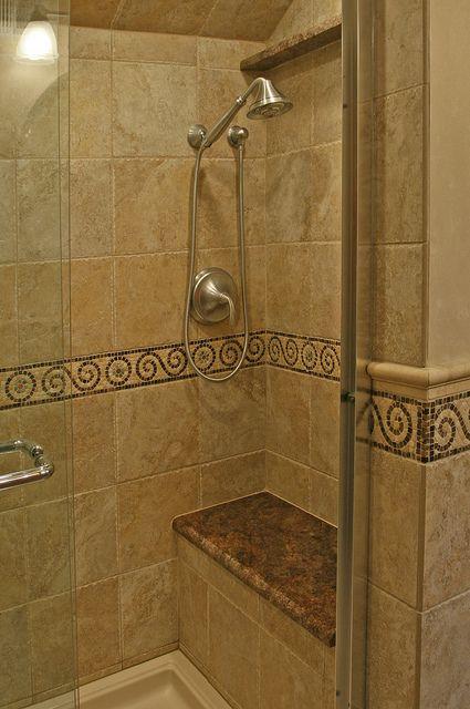 shower tile w seat  Bathroom Pics  Mobilier salle de