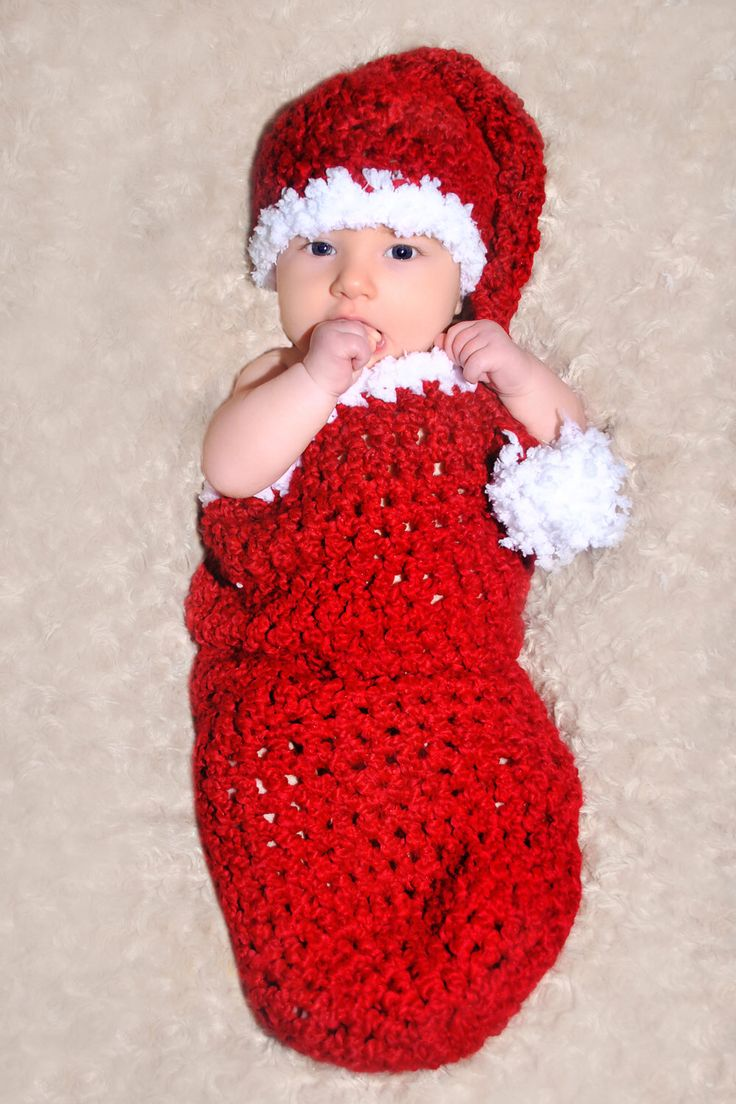 Best 25 baby santa hat ideas on pinterest crochet santa hat crochet pattern santa baby cocoon and matching sleeper hat set great photo prop bankloansurffo Images