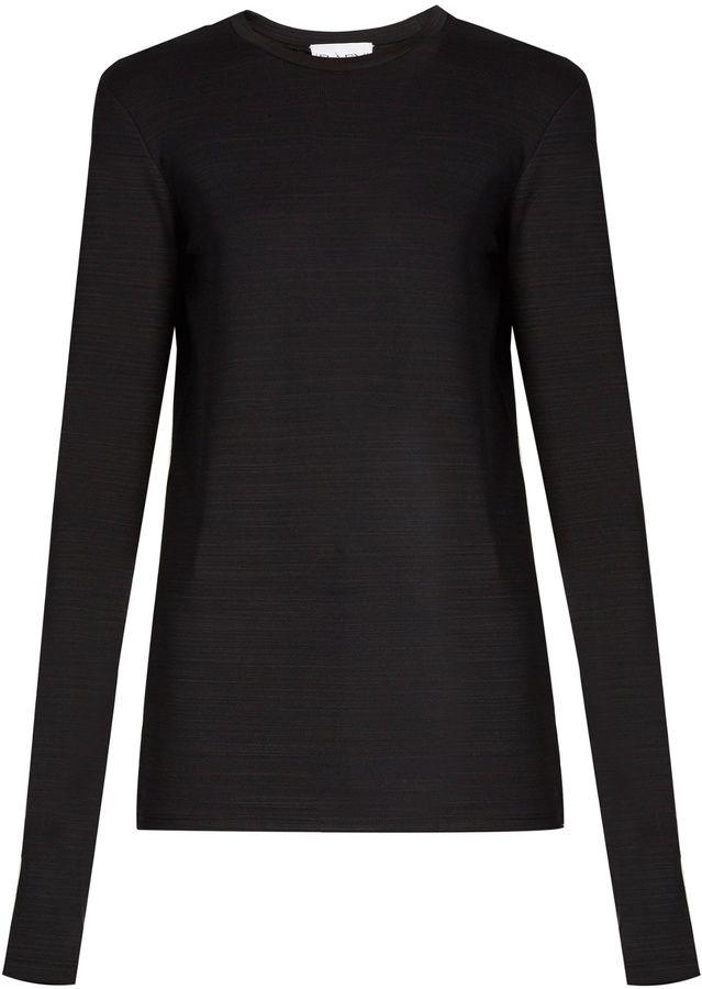 RAEY Long-sleeved slub-jersey T-shirt