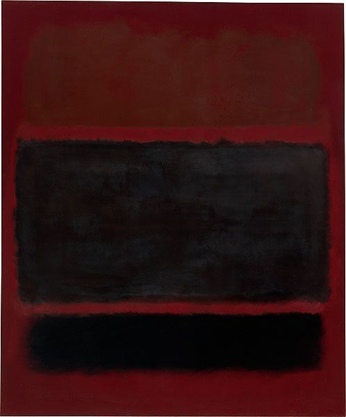 """dailyrothko: """" Mark Rothko, No. 20, 1957, oil on canvas signed and dated verso u.l., maroon oil paint, """"Mark Rothko / 1957"""" 233.0 (h) x 193.0 (w) cm Unframed 233.0 (h) x 193.0 (w) x 4.5 (d) cm Purchased 1981 National Gallery of Australia,..."""