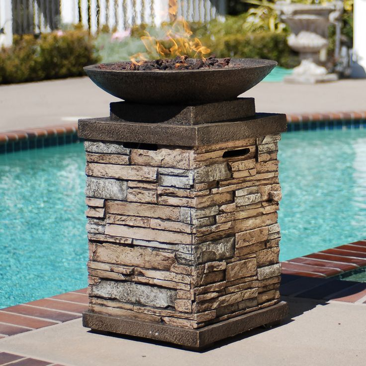 Features:  -Fire bowl.  -Requires a 20 lb Propane tank (not included).  -Keep warm and create the perfect outdoor setting throughout the year with a fire bowl.  -Bring the ambiance of an outdoor fire