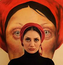 Have just found out about this Iranian artist Afarin Sajedi. Her paintings and sketches of women are fascinating and slightly surreal, but gracefully honest. Born: 1979.