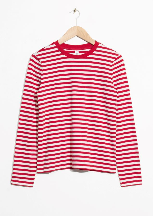 & Other Stories image 2 of Striped Sweater in Red