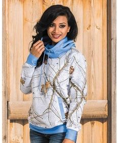 "Yukon Gear Snow Camo Cowl Neck Hoodie  | Casual Outfits for women #countrygirl #CountryFashion #countryoutfits drysdales.com #Fall2015 vintage tee shirt camo camouflage #snowcamo woodland outdoors huntress bowhuntress bowhunting shotgun white tail deer elk ""blend in"""