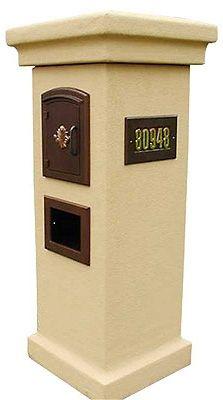 9 Best Stucco Mailbox Images On Pinterest Columns Mail