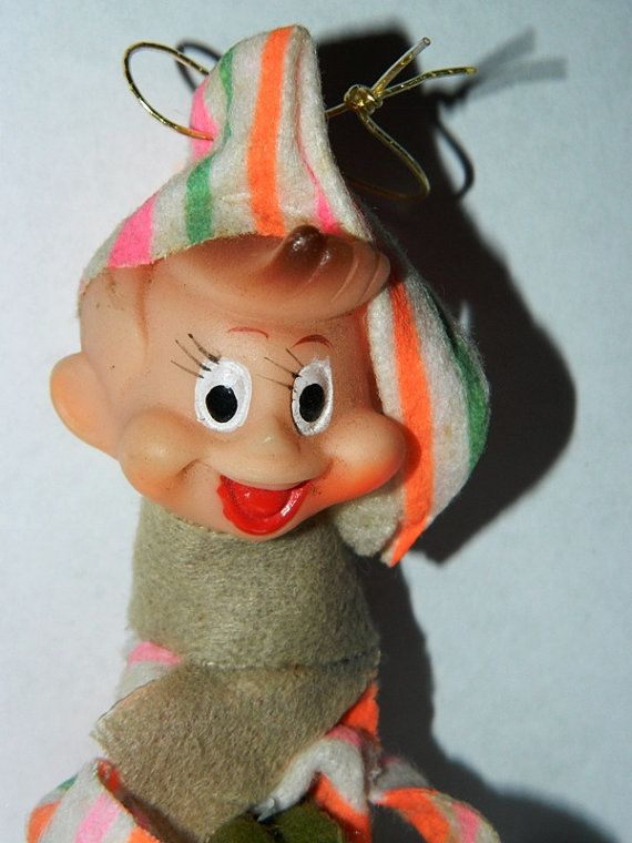 Christmas 1950's Pixies Baby Face Elf Pixie by TheIDconnection, $18.00