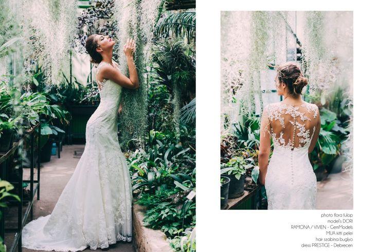 wedding, greenhouse, bride, wedding dress