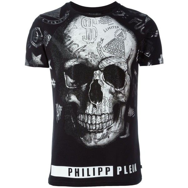 Philipp Plein Short Sleeve T-Shirts (1.220 BRL) ❤ liked on Polyvore featuring men's fashion, men's clothing, men's shirts, men's t-shirts, black, mens short sleeve cotton shirts, mens cotton t shirts, mens short sleeve t shirts, mens cotton shirts and mens short sleeve shirts