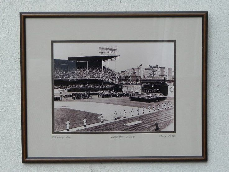 Rare Brooklyn Dodgers Opening Day Photographic Print, Framed, Ebbets Field