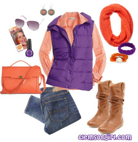 Clemson Girl Gameday Look - Bowl Game Beauty