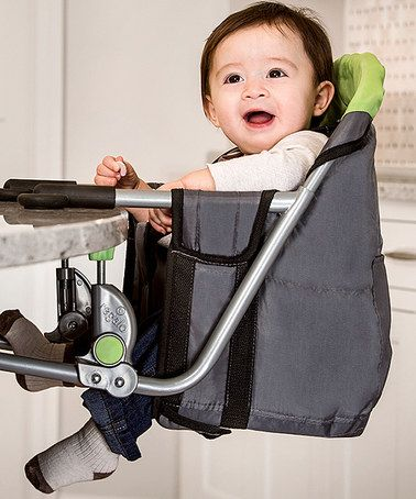 Elegant Loving This Regalo Green U0026 Gray Deluxe Portable Hook On High Chair On