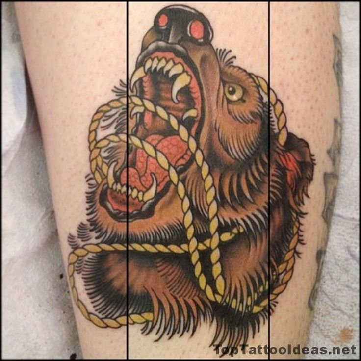Angry Bear Tattoo Idea