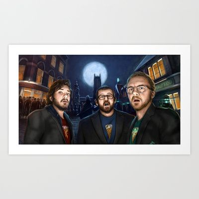 The Cornetto Trilogy Art Print by Matthew Rabalais - $20.00. Available at Society 6.