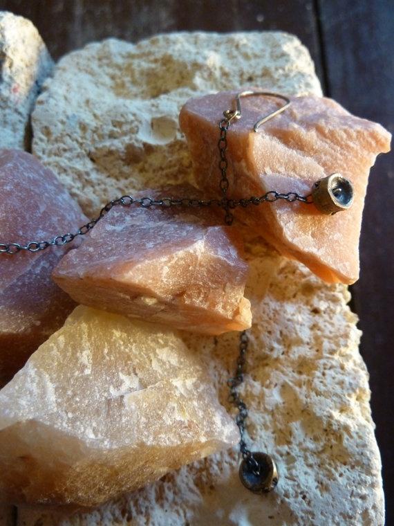 Small Vertebrae Dangle Earrings by LittleBuffaloDesigns on Etsy, $40.00
