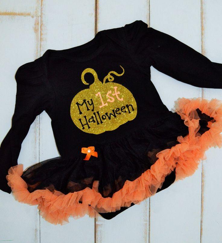 My First Halloween Tutu Onesie, $28.00 First Halloween Sparkle Outfit. Shop now www.sparklebowtique.com
