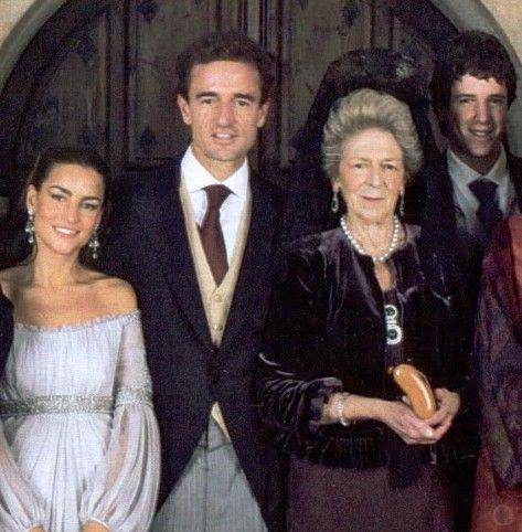 Princess Alessandra Torlonia de Borbón with son Count Alessandro Lequio di Assaba, his wife Maria Palacios, and last son Alessandro Lequio di Assaba