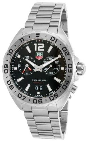 Tag Heuer Men's Formula 1 WAZ111A.BA0875 Silver Stainless-Steel Swiss Automatic Watch