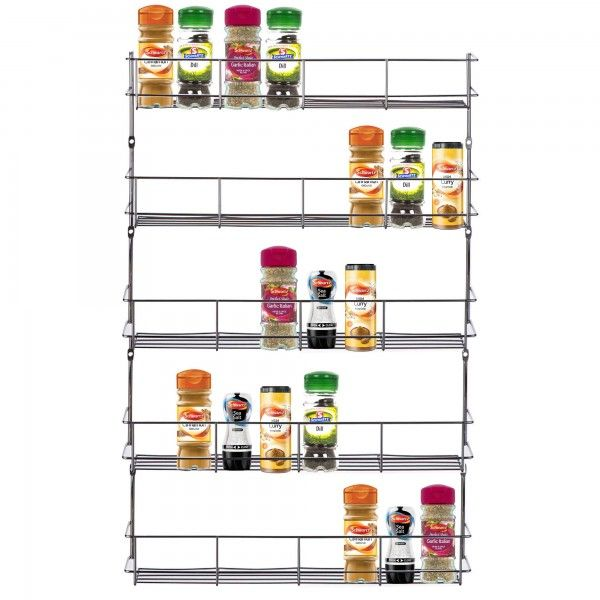 Large spice rack for up to 40 spice jars