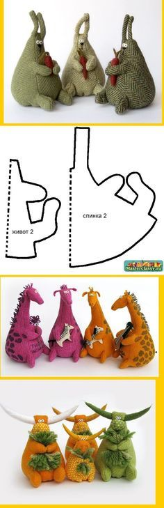 pattern for stuffed giraffe - wonder if I could figure this out to make a dragon? Pattern seems to be in Russian.