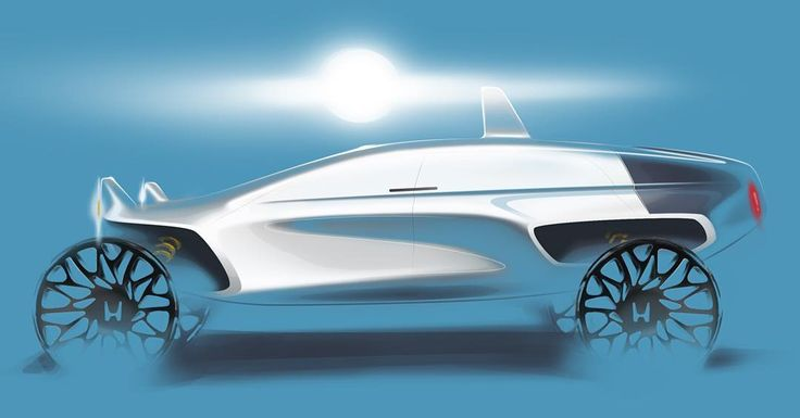 """Last semester's Honda studio #Honda #CCS #automotivedesign #cardesign #carsketch #sketch #photoshop #shiny"""