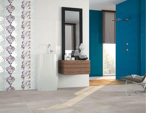 Fresh and urban #bathroom. The 7500 series. #ceramics #tiles #decoration #interiordesign